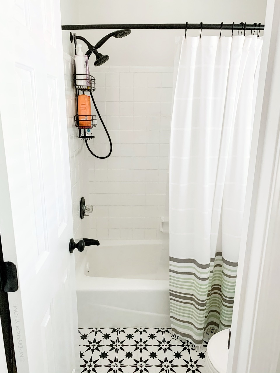 how to paint bathroom shower tile
