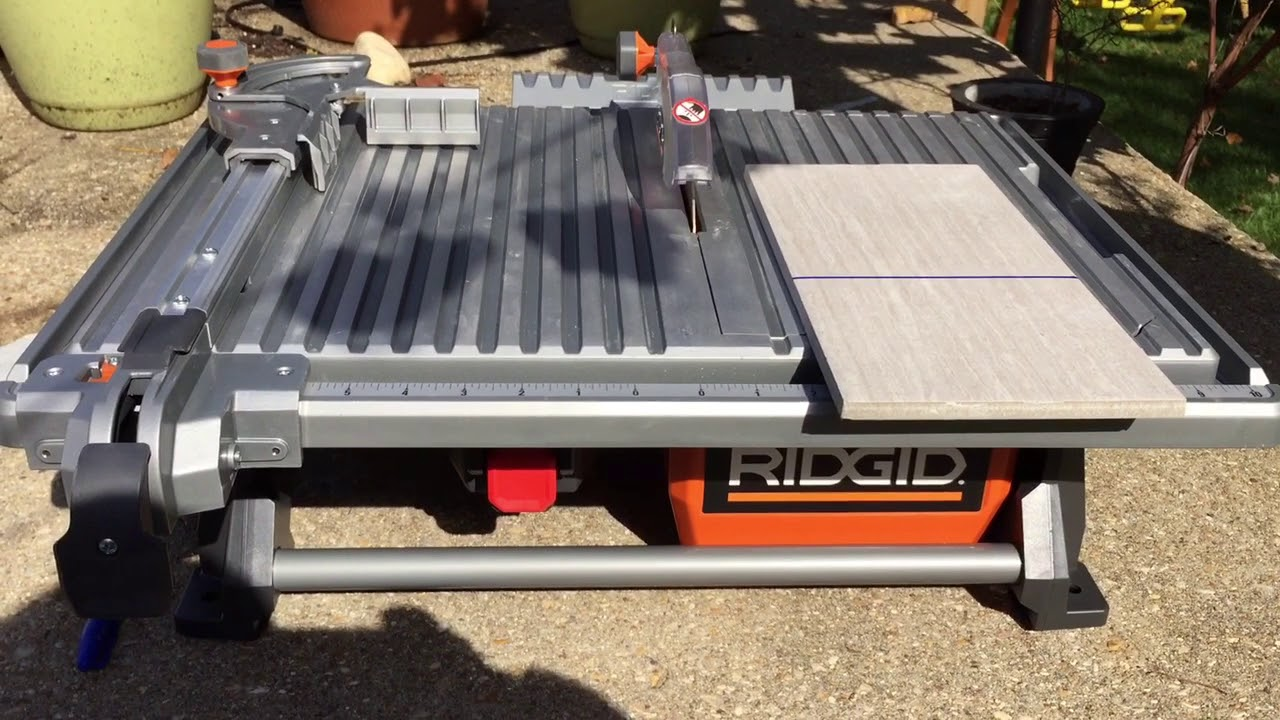 rigid 7 in table top wet tile saw overview and demonstration