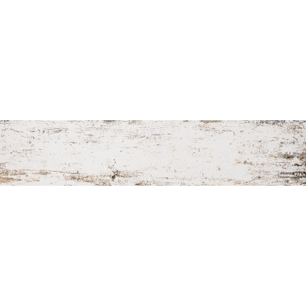 8 in x 36 in vintage lace white distressed wood looking plank porcelain tile flooring walls