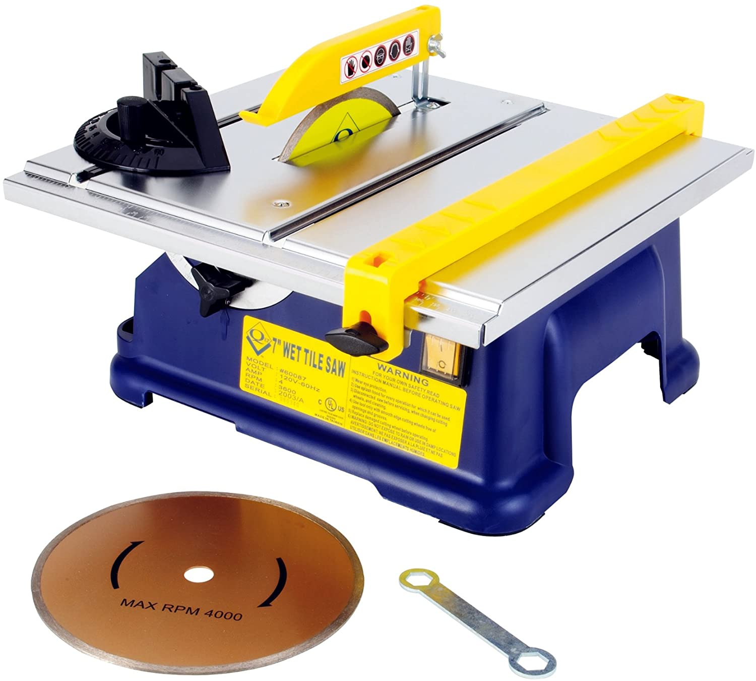 qep 60087 7 inch tile saw with water