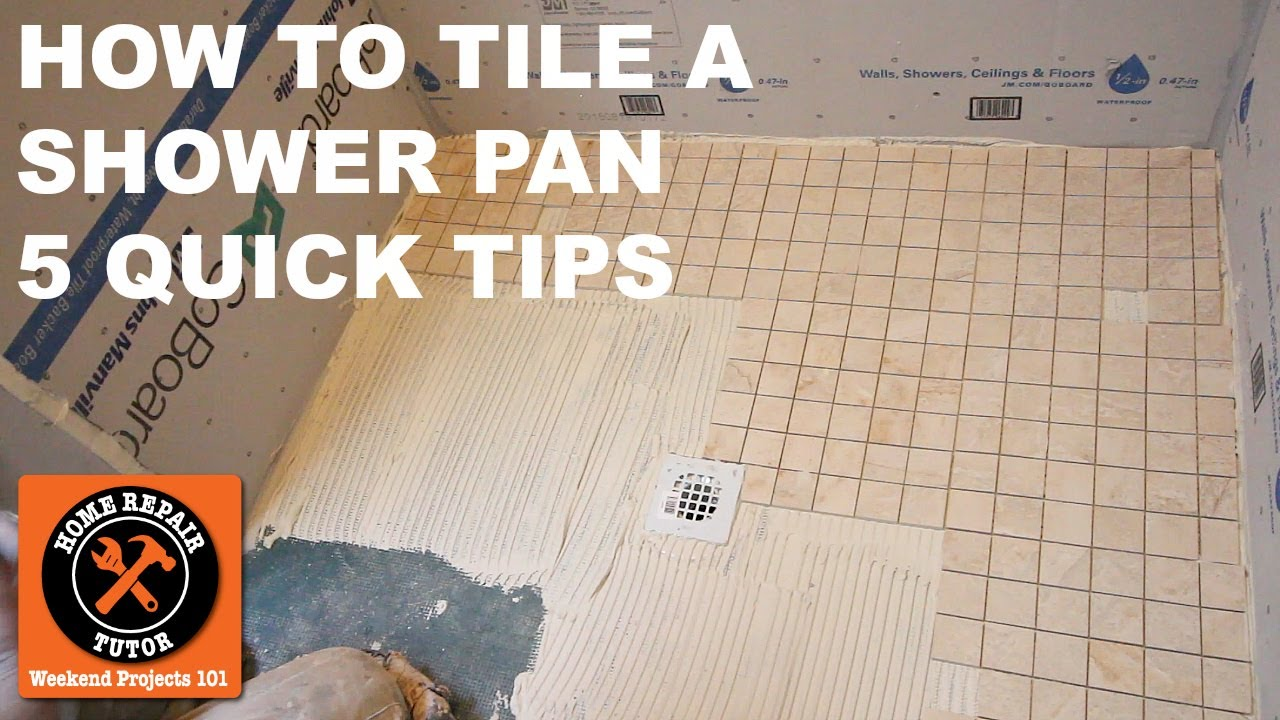 how to tile a shower pan quick tips