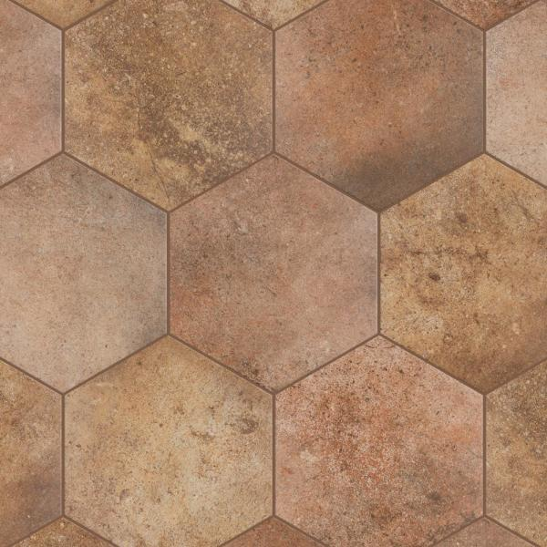 abadia hex natural 8 5 8 in x 9 7 8 in porcelain floor and wall tile 11 56 sq ft case