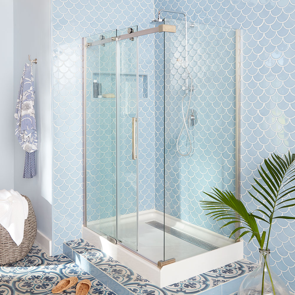 types of shower bases and walls the